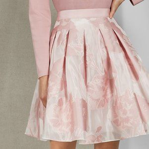 [NWT] Ted Baker Pink Floral Skirt